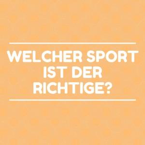 Welcher Sport_